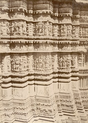 Plinth carvings of the Jagdish Temple, Udaipur. 20